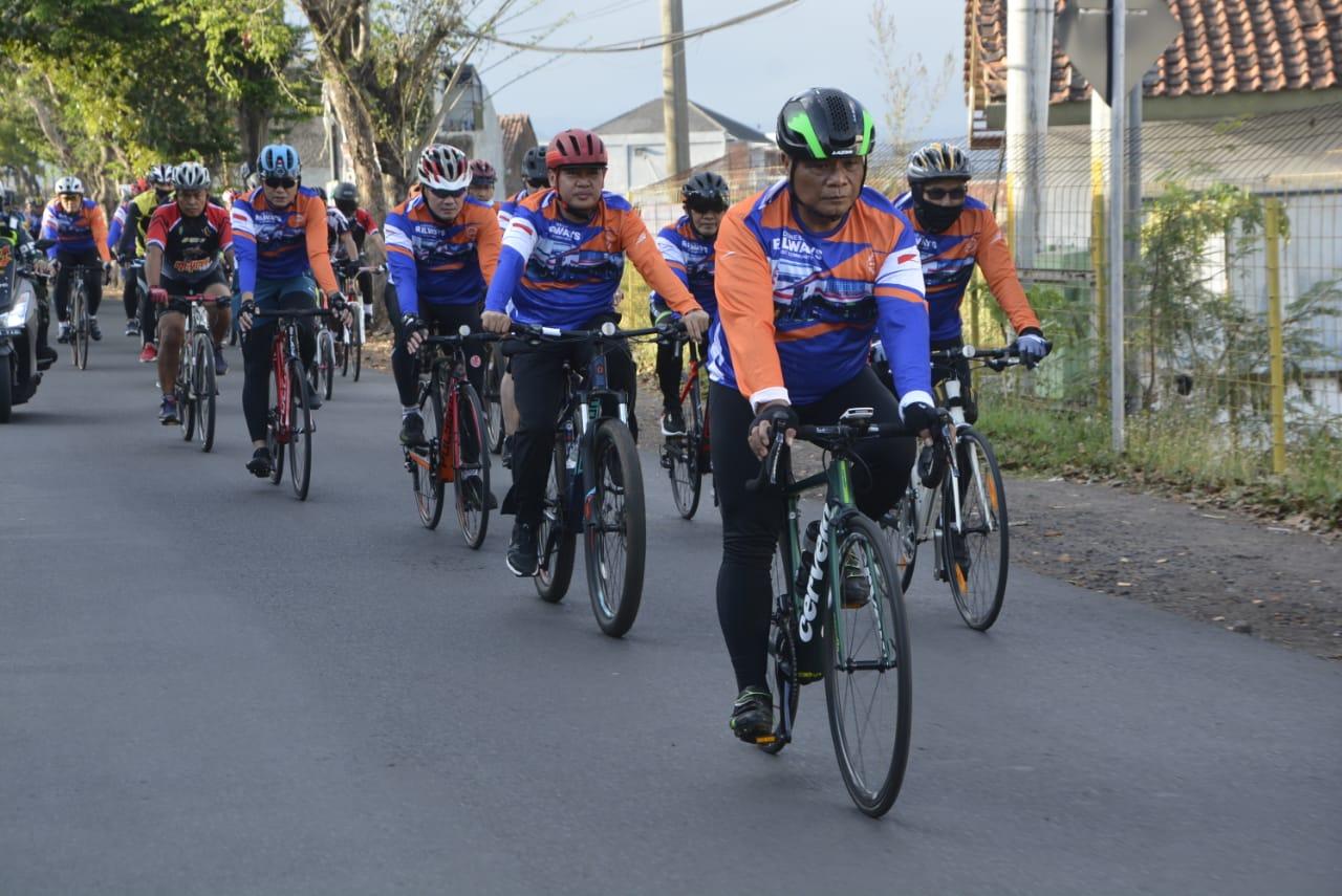 Gowes Bersama Pangdam III/Siliwangi, PT. KAI DAOP 2 Bandung Dan Jajaran Korem 062/TN