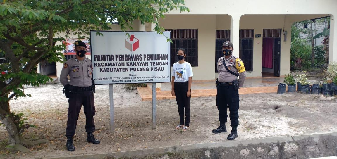 Ciptakan Situasi Kondusif, Anggota Polsek Kahayan Tengah Lakukan Patroli ke Kantor Panwaslu
