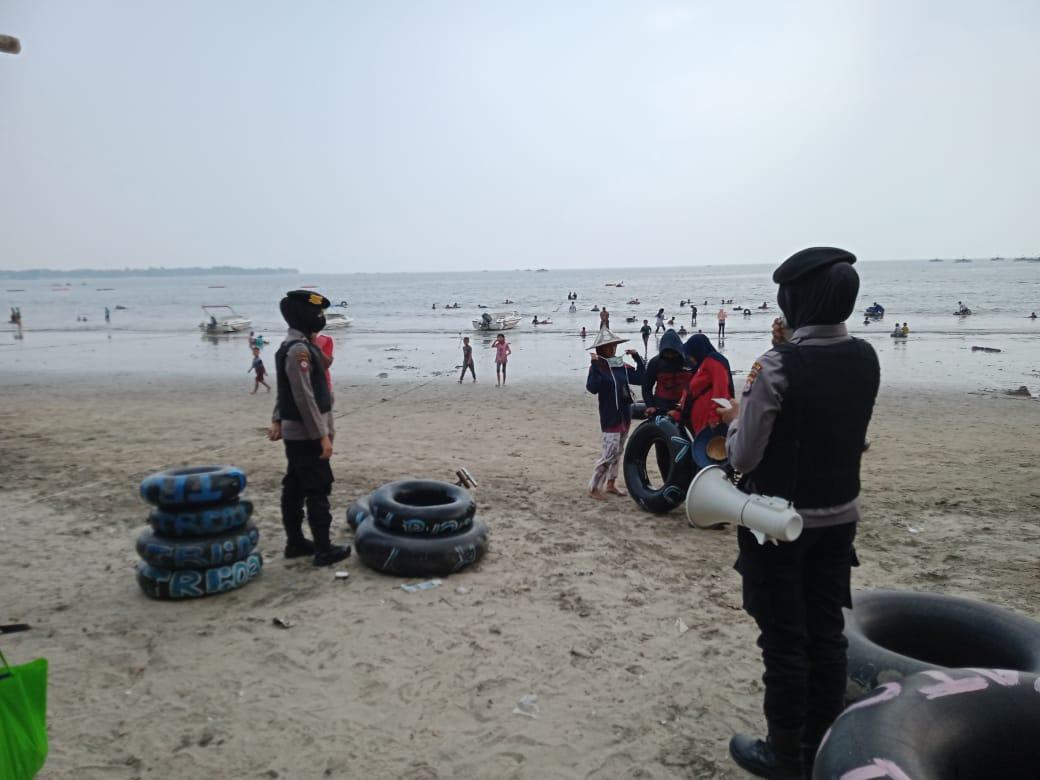 Pantau AKB Di Tempat Keramaian, Patroli Nong Jawara Polda Banten Datangi Mall Dan Tempat Wisata