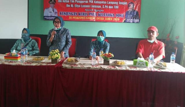 Ellya Lusiana Loekman Ketua TP PKK Kab. Lampung Tengah Terus Tingkatkan kepedulian Terhadap Keluarga ODGJ