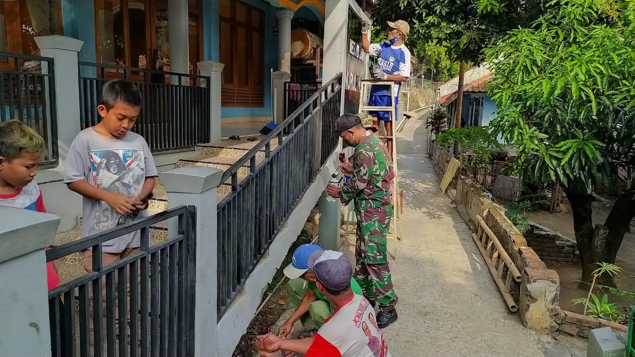 Koramil 1013/Jatigede Bersama Masyarakat Bergotong Royong