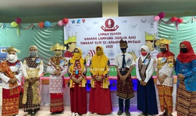 Dispusar Mesuji Gelar Lomba Pidato Bahasa Lampung Tingkat SLTP