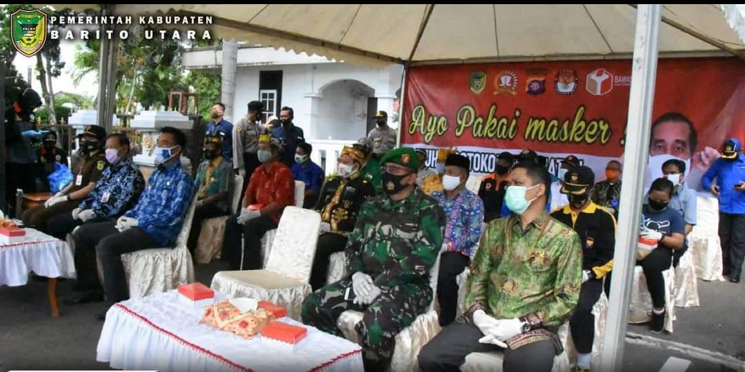 Polres Barito Utara Gelar Kampanye Masker