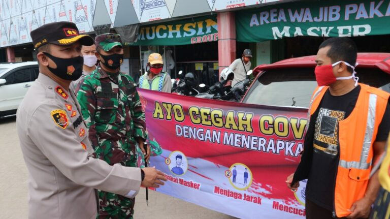Giat Menerapkan Protokol Kesehatan Covid-19 Terus di lakukan Oleh Polres Lampung Tengah