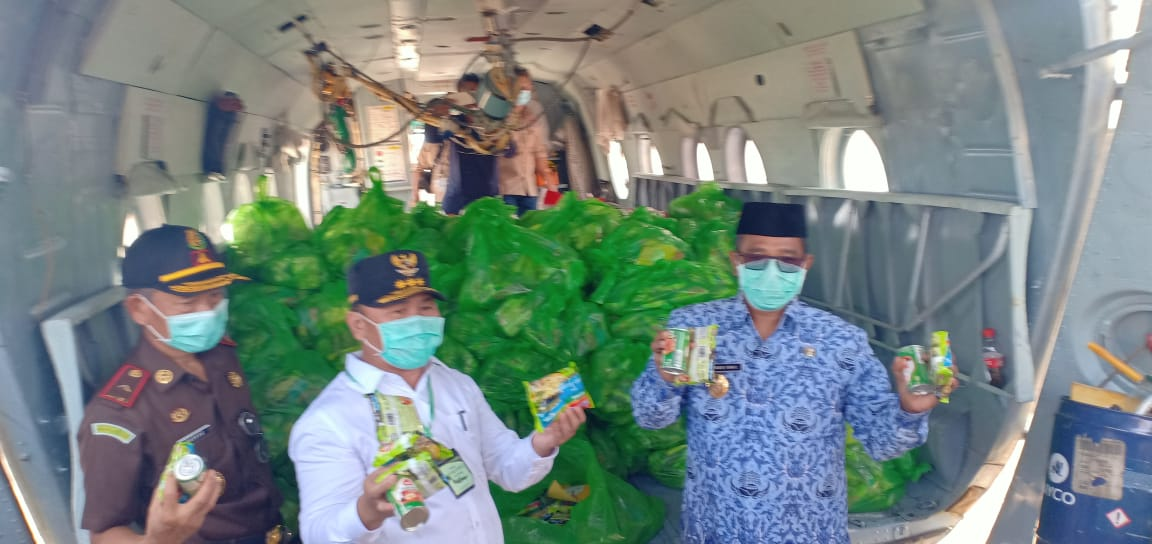 Pelepasan Simbolis Bantuan Sosial Korban Banjir Melalui Jalur Udara, Ini Sambutan Gubernur Kalteng