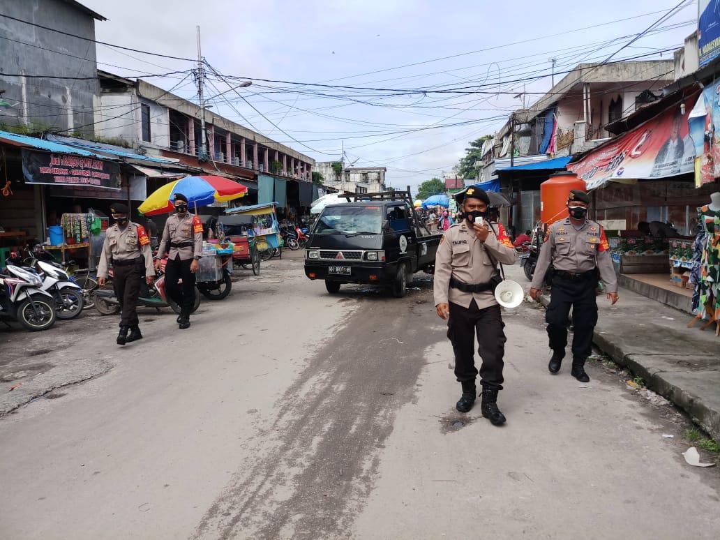 Cegah Penyebaran Covid-19, Satgas Aman Nusa Sambangi Pasar PU dan Pasar Besar
