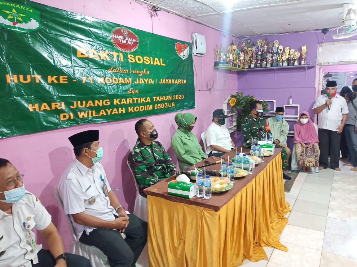 Kodim 0503/JB Gelar Baksos di Wilayah Koramil 04/Cengkareng
