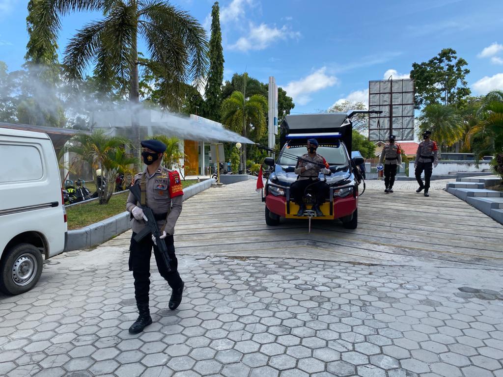 Operasi Aman Nusa II Semprotkan Disinfektan, Dilingkungan Masyarakat