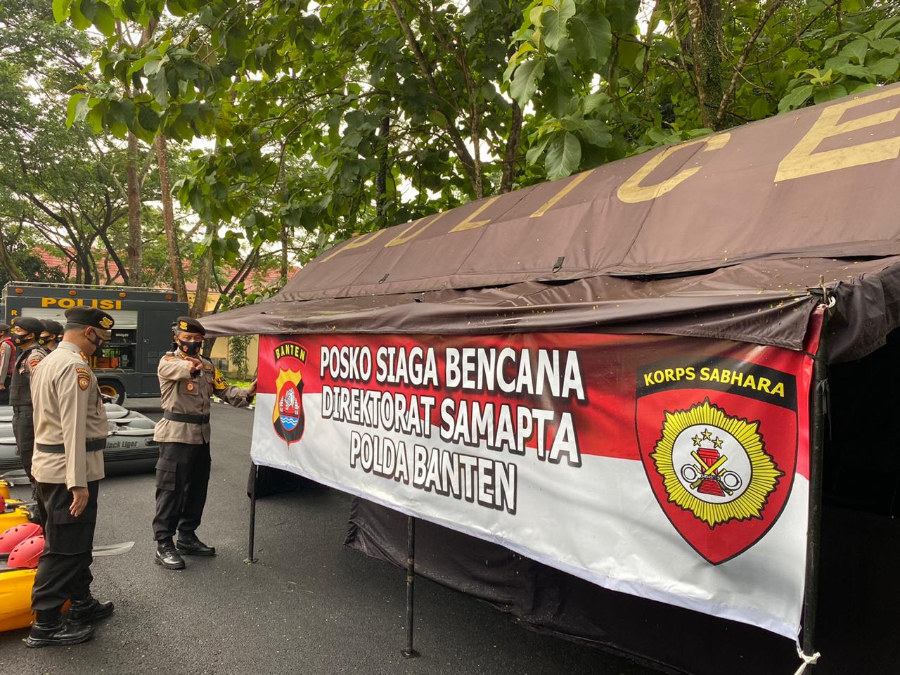 Antisipasi Kontijensi Bencana Alam, Ditsamapta Polda Banten Lakukan Apel Kesiapsiagaan