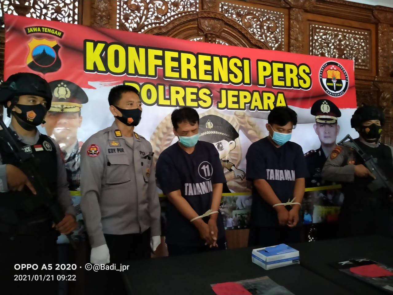 Kapolres Jepara, menyampaikan Beberapa kasus Curanmor TKP di Wilkum Polres Jepara