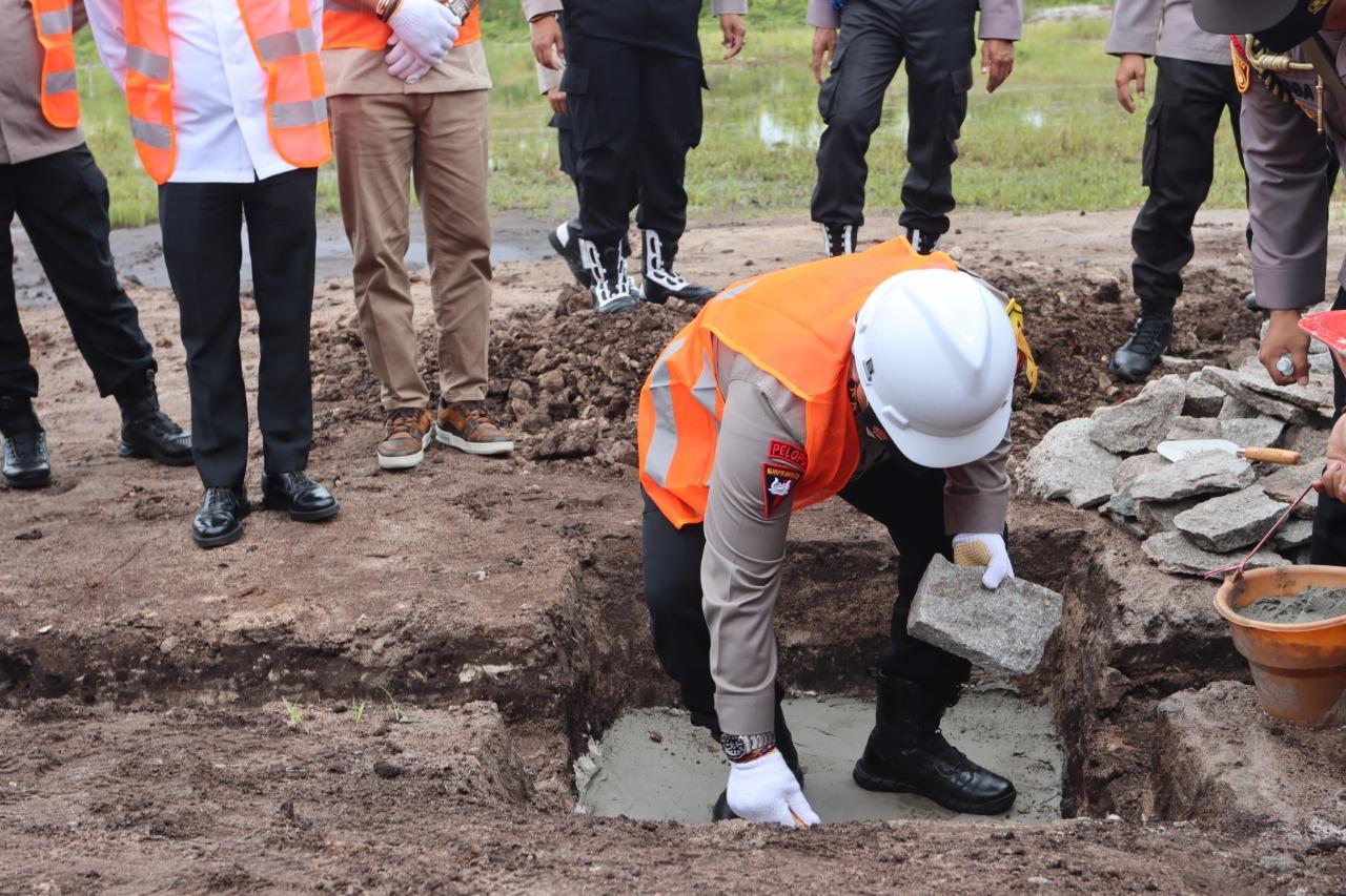 Rusun Polda, Resmi Letakan Batu Pertama Oleh Kapolda Kalteng