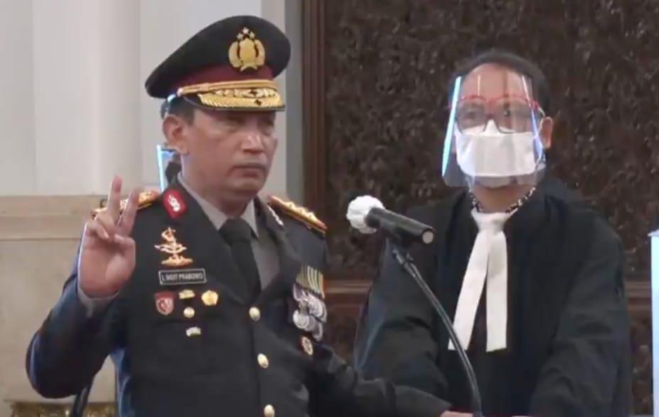 Listyo Sigit Pranowo sebagai Kapolri Resmi Dilantik Oleh Presiden RI Jokowi