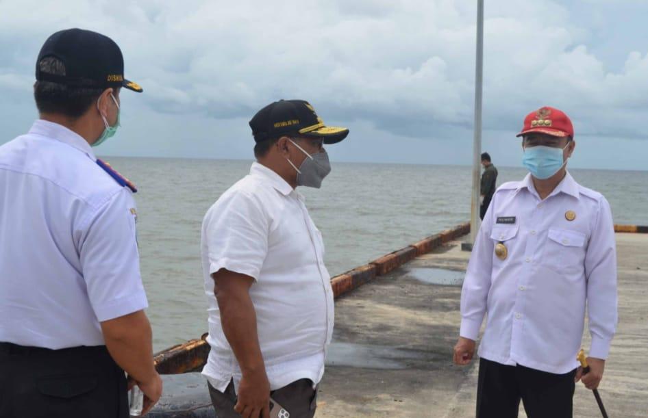 Wakil Gubernur Kalteng Habib Ismail Bin Yahya Tinjau Pelabuhan Segintung, Kab. Seruyan