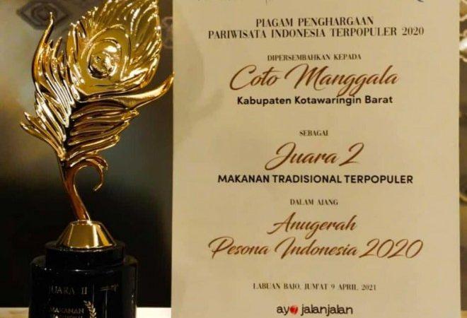 Kobar Raih Penghargaan Makanan Tradisional ' COTO MANGGALA'