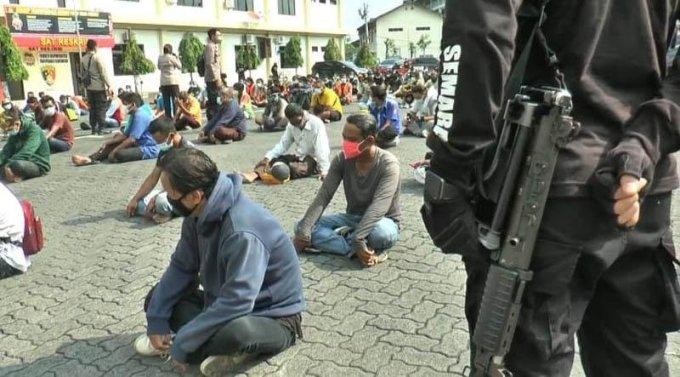281 Premen Diamankan Dalam Operasi Besar Besaran Polrestabes Semarang
