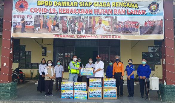 PT PAMA Sumbang 10.000 Masker Guna Hentikan Penyebaran Covid-19