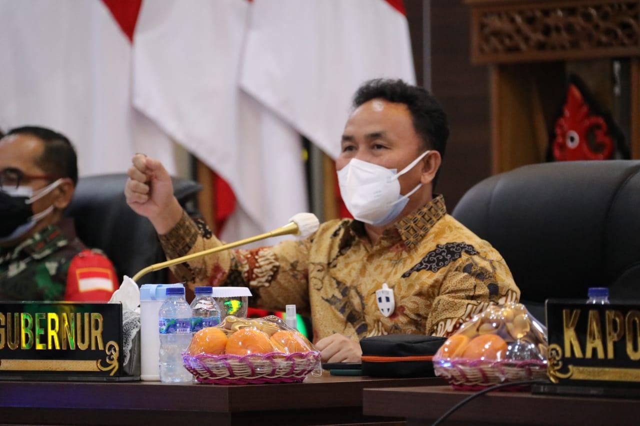 Gubernur Kalteng Sampaikan Arahan Kepada Forkopimda dan Wali Kota