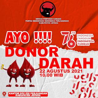 Andi Dan Andang Hadir Di Acara Donor Darah dan Baksos oleh DPC PDIP Jepara