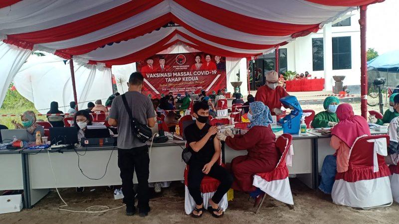 DPD PDIP Provinsi Kalteng Wujudkan Vaksinasi Covid-19 Tahap Kedua.
