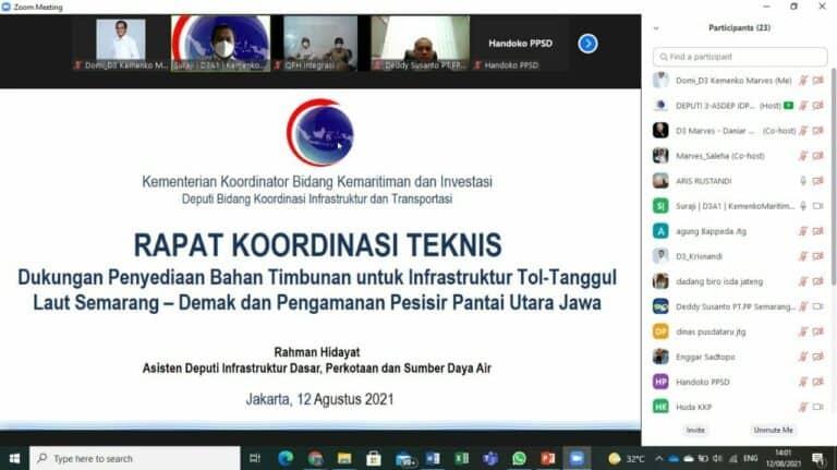 Kemenko Marves Kaji Opsi Material Timbunan Untuk Pembangunan Tol-Tanggul Laut Semarang-Demak