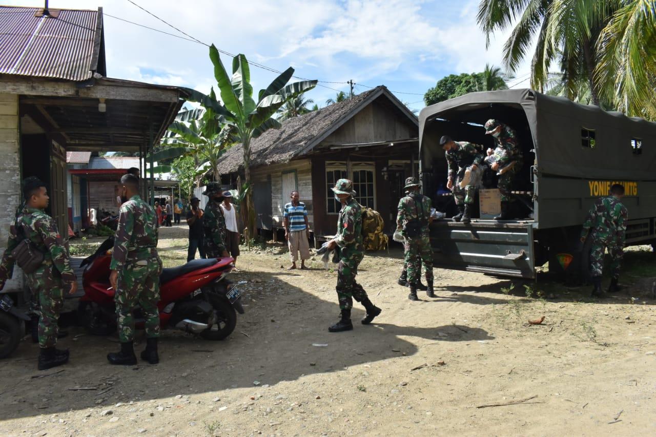 Pasukan Satgas TMMD  ke-112 Disambut Hangat Warga Rantau Keminting