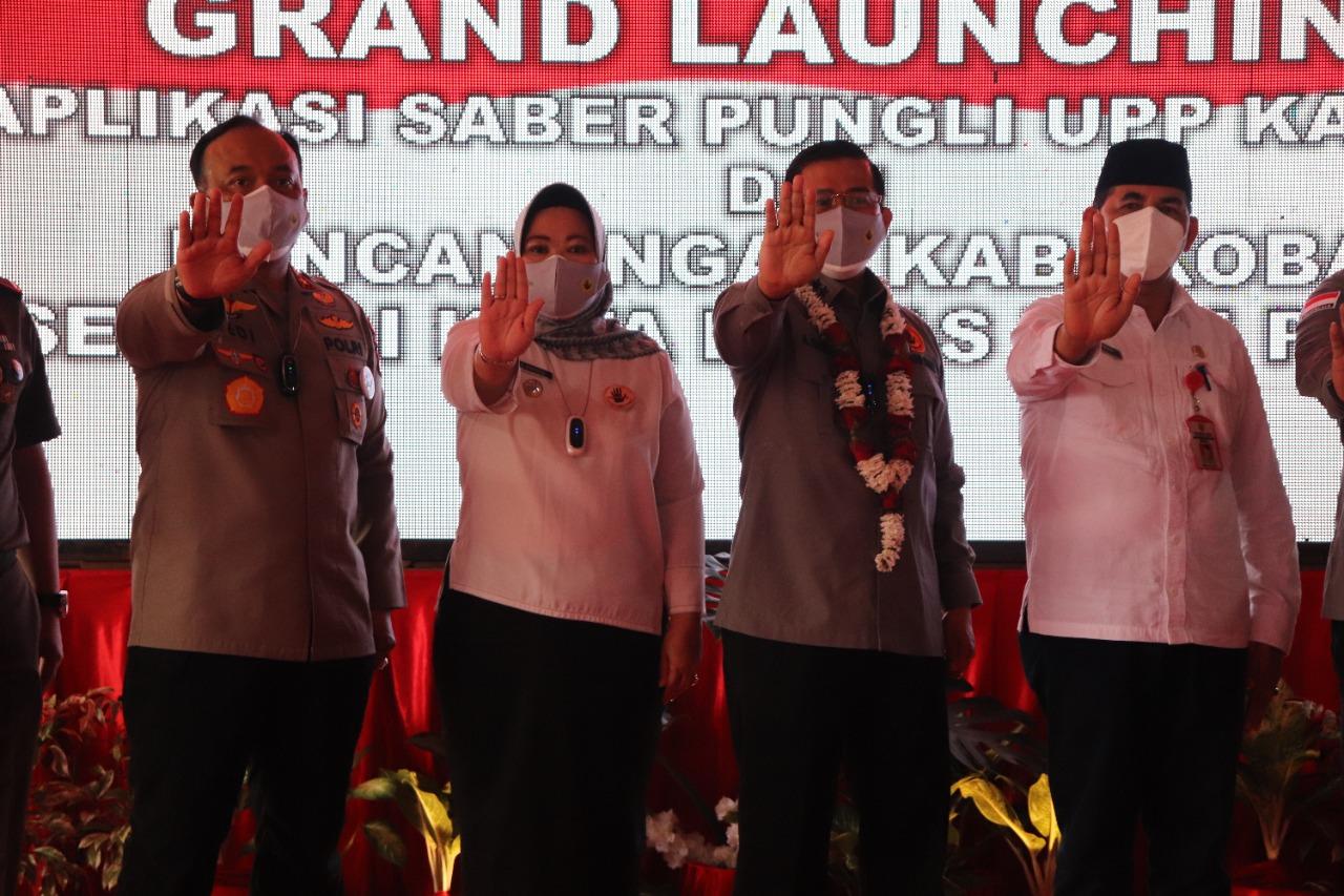 Kapolda Kalteng Hadiri Grand Launching Aplikasi Saber Pungli Dan Pencanangan Kota Bebas Pungli di Kobar