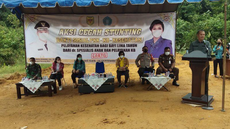 TP PKK Kabupaten Gunung Mas, Lakukan Baksos di Desa Tumbang Sian