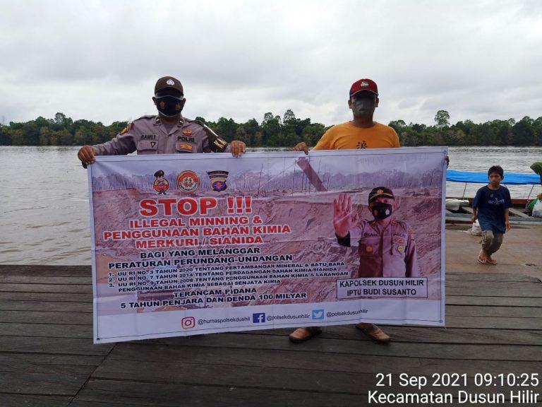 Personel Polsek Dushil Ajak Masyarakat Stop Illegal Mining