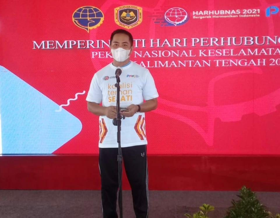 Plt. Kepala Dinas Perhubungan Prov. Kalteng Hadiri Puncak Acara Harhubnas dan PNKJ 2021