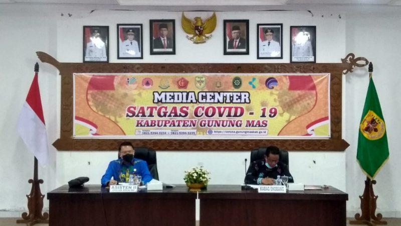Pemkab Gumas Mengikuti Sosialisasi Permendagri No. 27 tahun 2021 secara daring