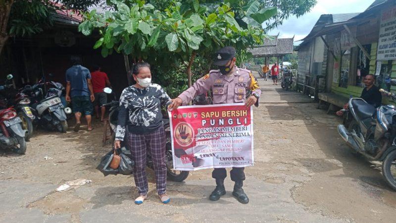 Stop :  Penambangan Illegal Mining , Personel Polsek Karau Kuala Berikan Edukasi