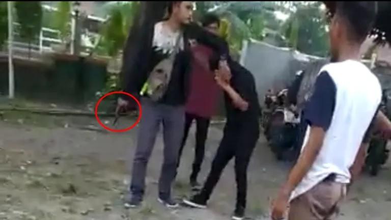 Polisi Amankan Oknum Debt Collector Penodong Pistol Ke Mahasiswa