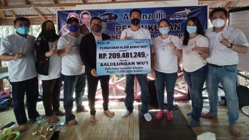 PT.ALLIANZ LIFE INDONESIA BAYARKAN BIAYA RAWAT INAP COVID-19 KE SALAH SATU WARGA BARITO TIMUR