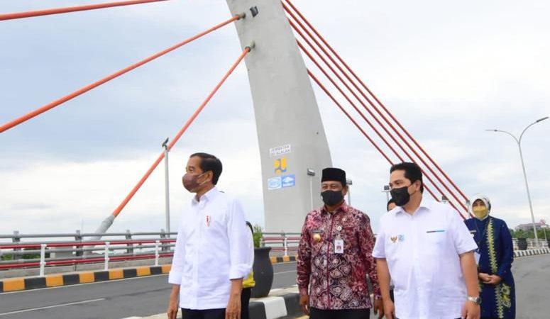 Wow!! Jembatan Sei Alalak, Diresmikan Presiden Jokowi, Pesannya : Manfaatkan dengan Baik.